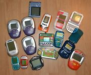 Vintage Lot Of Hand Held Electronic Games Pearl Quest Solitaire Word Games