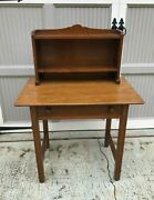 L. Andj.g. Stickley Single Drawer Writing Desk W/superstucture