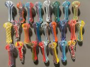 3 - 3.75 Glass Tobacco Pipes - Wholesale Lot - 25 Pieces