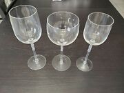Rosenthal Century Studio Line Crystal Wine Glass Place Set Of 3 Red White Water