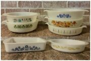 Vintage Anchor Hocking Fire King And Sears Glasbake Ovenware Casserole Dishes