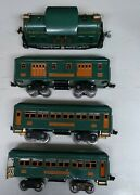 Vintage Lionel Outfit 352 10e, 332, 339, 341 Peacock Green Pass. Cars. Std.