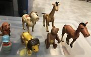 1973 Fisher Price Little People Circus Train Set 991 W Conductor And Animals