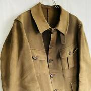 Vintage 1940 Special French Pique Hunting Jacket M Size Camel Color Very Rare