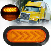 2pcs Stop Turn Signal Arrow Yellow 35led Abs Plastic Tail Lamp For Trailer Truck