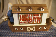 Handcrafted Wooden Noahand039s Ark Carved Advent Calendar