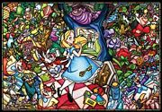 Tenyodp-027disney Stained Glass Alice In Wonderland Jigsaw Puzzle 1000 Piece