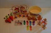 Vintage Garfield Mega Lot Includes Glasses Bowl Toys And More