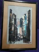 Oil Abstract Artist Of Israel Shaul Ohaly Consult Stock
