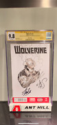 Wolverine 1 Sketch By Nick Bradshaw And Signed By Stan Lee Cgc Ss 9.8