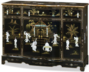 China Furniture Online Wooden Oriental Cabinet Black Lacquer Mother Of Pearl Ma