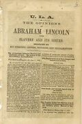 Opinions Of Abraham Lincoln Upon Slavery And Its Issues Indicated By His 1864
