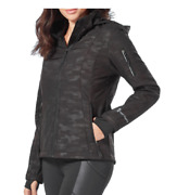Free Country Womens Super Softshell Jacket Black Emboss Camo Check For Size