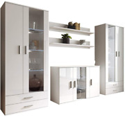 Soho 10 Modern Wall Unit With 16 Colors Led Lights White