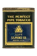 Rare 1920s S.s. Pierce Perfect Pipe Litho Hinged Pocket Tobacco Tin Good Cond