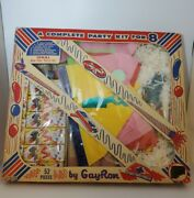 Vintage Gay Party Favors By Gay Ron Complete Party Kit For 8 New Year Set Rare