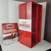 2018 Budweiser Clysdales Holiday Stein Cardboard Display Rare With Instructions