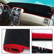 Dashboard Cover Dash Cover Mat Pad Custom Fit For Kia Forte 2019-2020 Red Line
