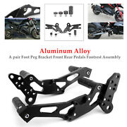 2andtimesmotorcycle Aluminium Foot Stand Foot Peg Bracket Front Rear Pedals Footrest