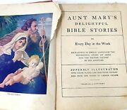 Childs Bible Stories Color Illustrated Antique Book 1904 Aunt Mary's Childrens