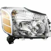 Headlight For Nissan Titan 04-06 Passenger Side Oe Replacement Halogen With Bulb