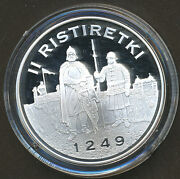 Finland Silver Treasure Collection Coin - Second Crusade 1249 - Proof