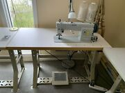 Kobe Du 1811 Walking Foot Industrial Leather And Canvas Sewing Machine And Table