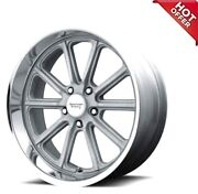 4ea 20inch Staggered American Racing Wheels Vn507 Rodder Vintage Silver Rimss2