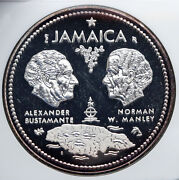 1972 Jamaica 10th Independence Anniversary Old Silver 10 Dollars Coin Ngc I89247