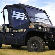 Full Cab Enclosure With Aero-vent Windshield For Kawasaki Mule Pro-fx Dx