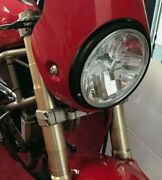 Black Clear Led Headlight Head Light And039ceand039 And039eand039 Ducati Monster 400 600 695