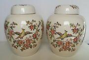 Two Crown Devon S Fielding Staffordshire England Ginger Jars, Exclusir China Co.