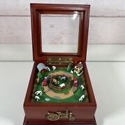 Mr Christmas Deluxe Animated Farm Tractor Music Box Animals Barns