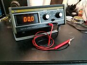 Vintage Bk Precision Model 282 Panaplex Display Multimeter With Probes. Tested.