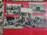 Ww2 Postcards Lot Of 5 Black And White War Postals