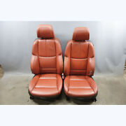 2008-2013 Bmw E92 M3 Coupe Factory M Front Sports Seats Fox Red Leather Oem