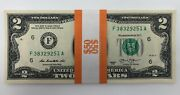 New Uncirculated Two Dollar Bills Series 2013 2 Sequential Notes - Lot Of 25