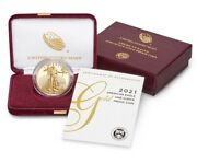 Last Design American Eagle 2021 One Ounce Gold Proof Coin 21eb Sealed