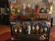 The Hobbit Unexpected Journey And Lord Of The Rings Pez Dispenser Set Sealed