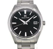 Seiko Grand Seiko Date Sbgv223/9f82-0af0 Black Dial Quartz Menand039s Watch C102493