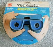 Unused Gaf Viewmaster Model H Lighted Stereo Viewer 1976 Rare Blue J583