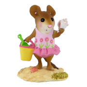 Wee Forest Folk Conch Quest, Wff M-487, Beach Mouse With Shell