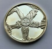 1975 Silver 999 The Spirit Of America One Nation Indivisible Medal Round