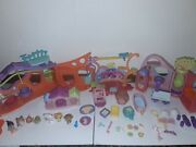 Lot Littlest Pet Shop Animals Accessories Including Playset Houses