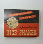 Rare Vintage Antique 11 Dice Shakers With Display Elk Brand