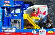 Fisher Price 2011 Dc Super Friends Wheelies Play 'n Go Batcave, New In Box