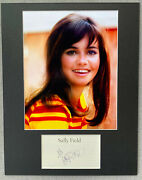 Sally Field Signed Autograph Photo Display - Gidget, The Flying Nun, Authentic