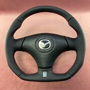 Full Reshaped Flat Bottom Steering Wheel Mazda Rx-7 Rx7 Fd3s New Leather
