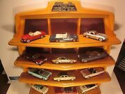 Franklin Mint 1/43 Diecast Classic Cars Of And03960s 12 Cars Shelf Display+ Book