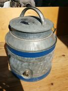 Vintage Galvanized 2 Gallon Water Can W/spicket Spout